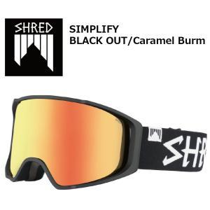 18 SHRED Goggle SIMPLIFY BLACK OUT/Caramel Burm シュレッド シンプラファイ ボードゴーグル 17-18 2017-18|extreme-ex
