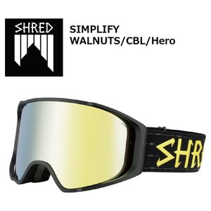 18 SHRED Goggle SIMPLIFY WALNUTS/CBL/Hero シュレッド シンプラファイ ボードゴーグル 17-18 2017-18|extreme-ex