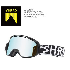 19 SHRED Goggle AMAZIFY BLACK OUT CBL SKY/CBL Amber Sky Reflect シュレッド アメージファイ ボードゴーグル 18-19 19Snow|extreme-ex
