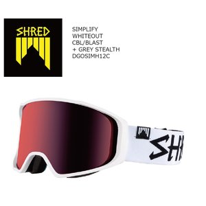19 SHRED Goggle SIMPLIFY WHITE OUT/CBL/Blast シュレッド シンプリ― ボードゴーグル 18-19 2018-19 19Snow|extreme-ex