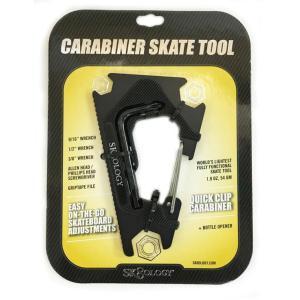 SK8OLOGY CARABINER TOOL 2.0 Black/Black スケートオロジー カラビナ スケートツール2.0 スケートレンチ 工具 ポスト投函(メール便)|extreme-ex