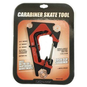 SK8OLOGY CARABINER TOOL 2.0 Black/Red スケートオロジー カラビナ スケートツール2.0 スケートレンチ 工具 ポスト投函(メール便)|extreme-ex