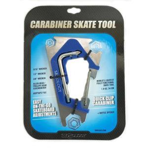 SK8OLOGY CARABINER TOOL 2.0 Metal Blue スケートオロジー カラビナ スケートツール2.0 スケートレンチ 工具 ポスト投函(メール便)|extreme-ex