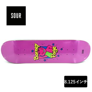 SOUR SOLUTION スケートボード デッキ 8.125インチ 【 Barney 】 スケボー サワーソリューション SKATEBOARD DECK|extreme-ex