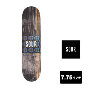 SOUR SOLUTION スケートボード デッキ 7.75インチ 【 Tiles - 7.75 】 スケボー サワーソリューション SKATEBOARD DECK|extreme-ex