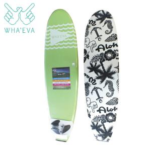 SURF WHA'EVA FLAG 7'0 Lime(Green) ソフトサーフボード EVA素材 軽量 ソフト素材 WHA EVA ワー イーブイエー|extreme-ex