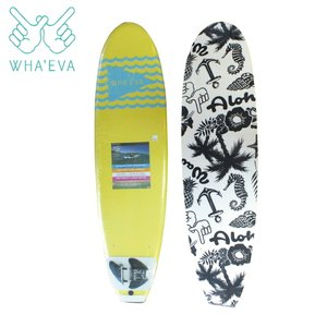 SURF WHA'EVA FLAG 7'0 Yellow ソフトサーフボード EVA素材 軽量 ソフト素材 WHA EVA ワー イーブイエー|extreme-ex