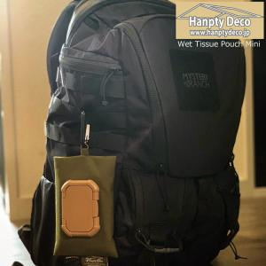 HANPTY DECO ハンプティデコ WET TISSUE POUCH MINI ウェットティッシュポーチ ミニ 袋型ポケットティッシュ   ・ フェイスシート 専用ポーチ OutDoor extreme-ex