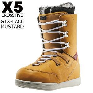 17 X5 GTX-Lace Boots Mustard ブーツ クロスファイブ ジーティーエックスレース CROSSFIVE スノーボード ブーツ 16 - 17 2017|extreme-ex