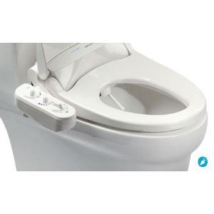 3点ユニットバス専用 無電源温水洗浄便座iS-100 (右手操作用)+壁付シャワー水栓用分岐金具付 電源不要/温水洗浄可【DIY商品】|eye-s2
