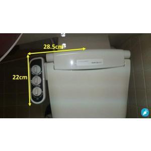 3点ユニットバス専用 無電源温水洗浄便座iS-100 (右手操作用)+壁付シャワー水栓用分岐金具付 電源不要/温水洗浄可【DIY商品】|eye-s2|06
