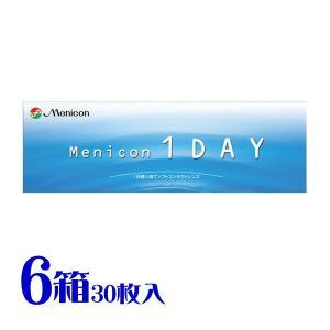 メニコン ワンデー (1DAY) 送料無料 ワンデータイプ コンタクトレンズ 6箱セット 1箱30枚入り|eyelife