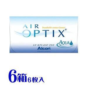 送料無料 エアオプティクス  アクア 日本アルコン(旧チバビジョン) 6箱セット 2週間用コンタクトレンズ (1箱6枚入り)|eyelife