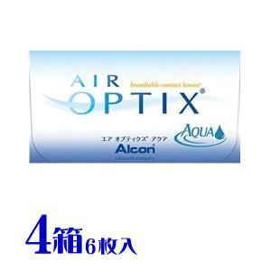 送料無料  エアオプティクス アクア  4箱セット 日本アルコン(旧チバビジョン) 2週間用コンタクトレンズ (1箱6枚入り)|eyelife