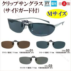 [5,000円以上送料無料・日本製・ケース付]眼鏡に付ける前掛クリップサングラス(男性用・女性用・偏...