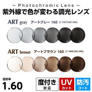 色が変わる調光レンズ 薄型 球面 1.60 紫外線 UVカット Ito Lens アート調光 度付き レンズ メガネレンズ|eyeneed