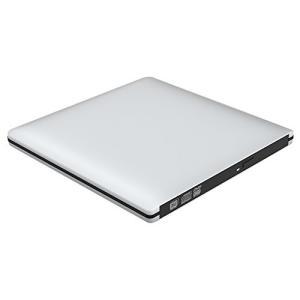 VersionTek【最新バージョン】USB3.0 ポータブルDVDドライブ CDドライブ PC外付けドライブ/DVDプレーヤー  (シルバー)