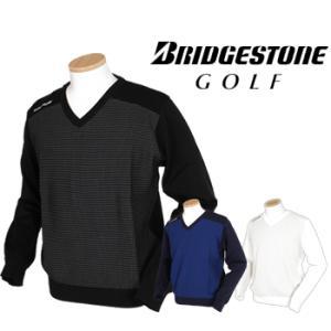 BridgestoneGolf ブリヂストンゴルフ  TOUR B 秋冬ウエア 長袖Vネックセーター...