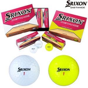 ダンロップ日本正規品スリクソン ディスタンスSRIXON DISTANCEゴルフボール1ダース(12個入り)