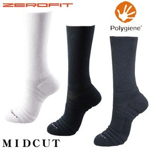 イオンスポーツポリジン銀イオン抗菌防臭ZEROFIT(ゼロフィット)ソックスMID-CUT(ミドルカット)