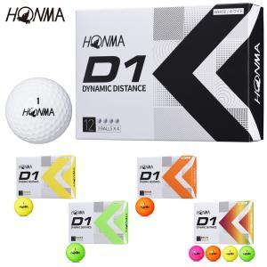 HONMA GOLF(本間ゴルフ) 日本正規品 HONMA New-D1 ゴルフボール1ダース(12個入) 2019モデル|ezaki-g