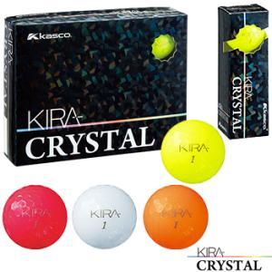 キャスコ日本正規品 KIRA CRYSTAL(キラクリスタル) 2018モデル ゴルフボール1ダース(12個)|ezaki-g