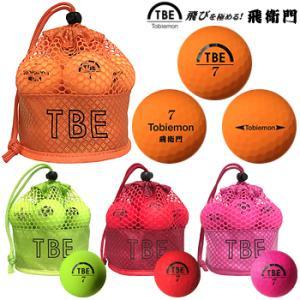 TOBIEMON(飛衛門)日本正規品 蛍光マットカラーボール メッシュバッグ入り 2ピースゴルフボール 1ダース(12個入り) 2019新製品 「T-2M」|ezaki-g