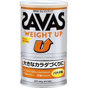 ザバス SAVAS ウエイトアップ バナナ味 420g(約20食分) CZ7035|ezone