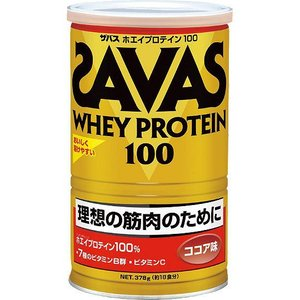 ザバス SAVAS ホエイプロテイン100 ココア味 378g(約18食分) CZ7425|ezone