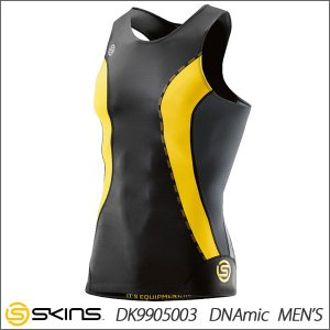 クリアランスセール30%OFF! 【2点までメール便送料無料】スキンズ DNAmic スリーブレストップ コンプレッションインナー メンズ SKINS DK9905003|ezone