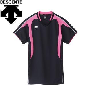 【2枚までメール便送料無料】デサント バレーボール 半袖シャツ メンズ レディース 半袖ゲームシャツ DSS4620ーBPK|ezone