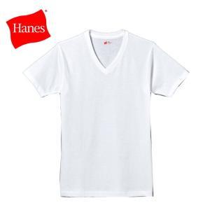 ヘインズ アカラベル VネックTシャツ 3枚組 HM2145K-010 19SS |ezone