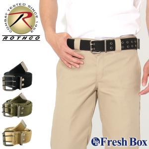 ロスコ ベルト ダブルピン メンズ レディース 大きいサイズ USAモデル 米軍|ブランド ROTHCO|2つ穴 Wピン ミリタリー カジュアル|f-box