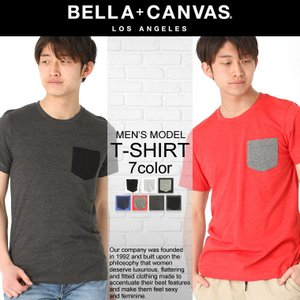 ベラキャンバス ロサンゼルス Tシャツ 半袖 ポケット 無地 メンズ|BELLA+CANVAS LOS ANGELES|半袖Tシャツ 大きいサイズ 小さいサイズ|f-box