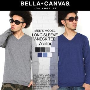 ベラキャンバス ロサンゼルス Tシャツ 長袖 Vネック 無地 メンズ 大きいサイズ 3425 BELLA+CANVAS LOS ANGELES 長袖Tシャツ ロンT f-box
