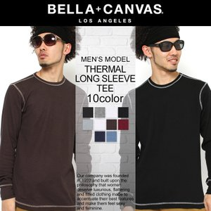 ベラキャンバス ロサンゼルス Tシャツ 長袖 メンズ 無地 サーマル ロンT 大きいサイズ 3500 BELLA+CANVAS LOS ANGELES 長袖Tシャツ ロンT f-box