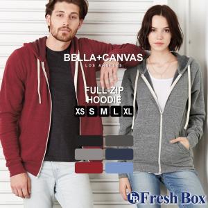 ベラキャンバス ロサンゼルス パーカー メンズ レディー ユニセックス パーカー ブランド ジップアップパーカー 裏起毛 薄手 無地 BELLA CANVAS (USAモデル)|f-box