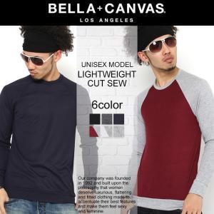 ベラキャンバス ロサンゼルス Tシャツ 長袖 Uネック ラグラン メンズ レディース 大きいサイズ 3981|BELLA+CANVAS LOS ANGELES|長袖Tシャツ ロンT|f-box