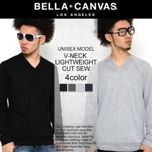 ベラキャンバス ロサンゼルス Tシャツ 長袖 Vネック ラグラン メンズ レディース 大きいサイズ 3985 BELLA+CANVAS LOS ANGELES 長袖Tシャツ ロンT f-box