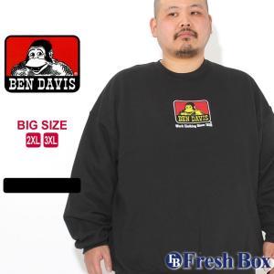 [ビッグサイズ] ベンデイビス トレーナー ロゴ プリント メンズ 大きいサイズ USAモデル|ブランド BEN DAVIS|アメカジ スウェット|f-box