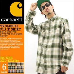 【3XL-4XL】 Carhartt カーハート ネルシャツ チェック シャツ 長袖 メンズ チェック柄 長袖シャツ チェックシャツ アメカジ 大きいサイズ f-box