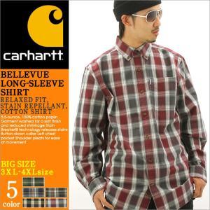 【3XL-4XL】 Carhartt カーハート シャツ 長袖 メンズ チェックシャツ チェック柄 長袖シャツ ボタンダウンシャツ アメカジ 大きいサイズ f-box