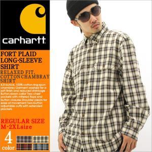 Carhartt カーハート ネルシャツ チェック シャツ 長袖 メンズ チェック柄 長袖シャツ チェックシャツ アメカジ 大きいサイズ f-box