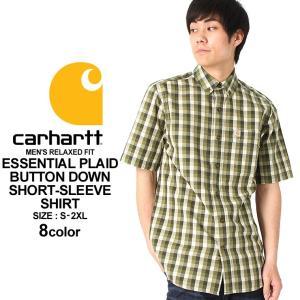 カーハート シャツ 半袖 ボタンダウン チェック メンズ 大きいサイズ 103005 USAモデル│ブランド カジュアルシャツ 半袖シャツ アメカジ (clearance)|f-box