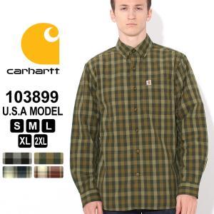 カーハート シャツ 長袖 チェック柄 ボタンダウン メンズ 大きいサイズ 103899 USAモデル|ブランド Carhartt|f-box
