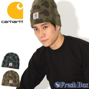 Carhartt カーハート ニット帽 メンズ ブランド ニットキャップ 折り返し ビーニー 帽子 メンズ ニット キャップ (carhartt-104557) f-box