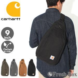 Carhartt カーハート ボディバッグ メンズ ブランド 大容量 大きめ メンズ 肩掛け バッグ 撥水加工 [carhartt-261205] (USAモデル) f-box