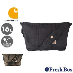 Carhartt カーハート メッセンジャーバッグ 大容量 ショルダーバッグ メンズ 斜めがけ 大きめ 撥水加工 [carhartt-525200] (USAモデル) f-box