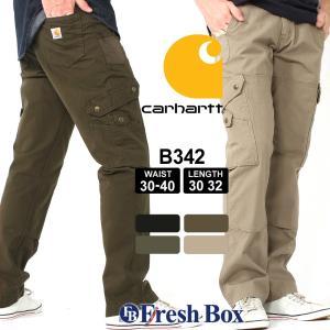 カーハート カーゴパンツ ジッパーフライ ダブルニー メンズ 大きいサイズ B342 USAモデル|ブランド Carhartt|ワークパンツ 作業着 作業服 アメカジ|f-box