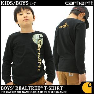 [キッズ] カーハート Tシャツ 長袖 USAモデル ボーイズ│ブランド 長袖Tシャツ ロンT|f-box
